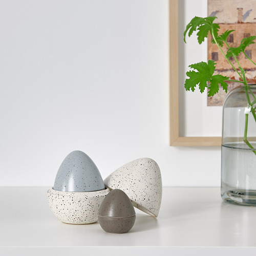 RÅDFRÅGA decoration, set of 3