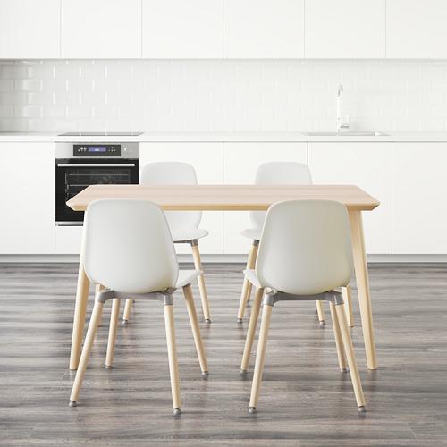 LEIFARNE/LISABO mesa con 4 sillas
