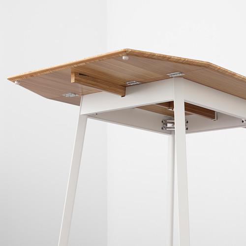 """IKEA PS 2012 mesa extensible abatible, mínimo extensión 29 1/8"""" y máximo extensión 54 3/8"""""""