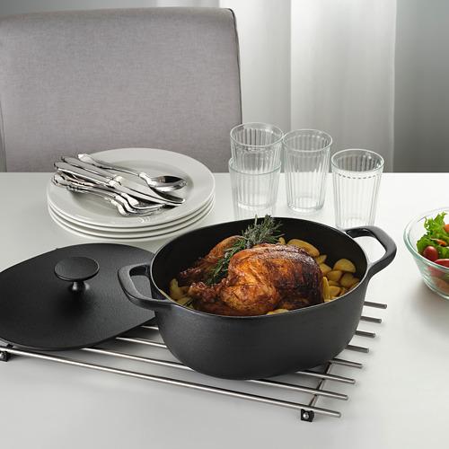 VARDAGEN casserole with lid