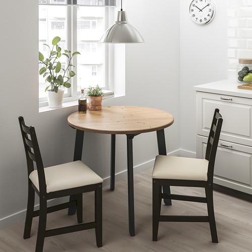 """LERHAMN/GAMLARED mesa redonda y 2 sillas, diámetro de la mesa 33 1/2"""""""