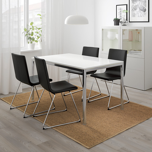 """TORSBY/VOLFGANG mesa con 4 sillas, longitud de la mesa 53 1/8"""""""