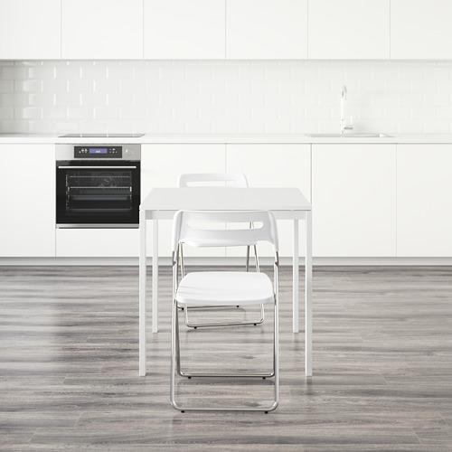 """NISSE/MELLTORP mesa con 2 sillas plegables, longitud de la mesa 29 1/2"""""""