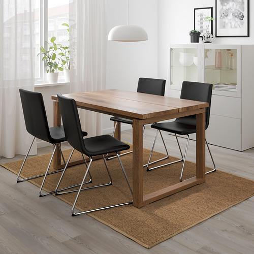 "VOLFGANG/MÖRBYLÅNGA mesa con 4 sillas, longitud de la mesa 55 1/8"""