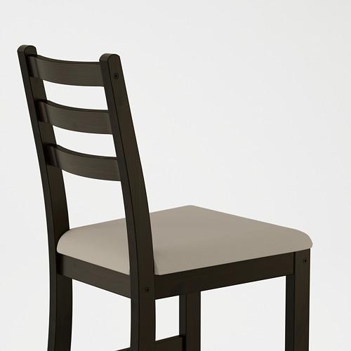 """LERHAMN mesa y 2 sillas, longitud de la mesa 29 1/8"""""""