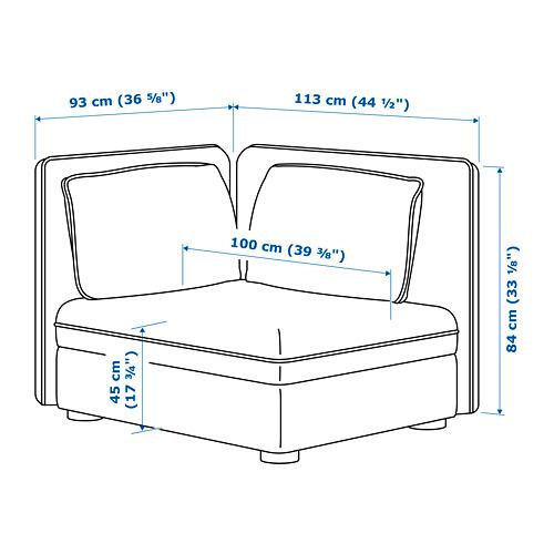 VALLENTUNA sectional, 1-seat