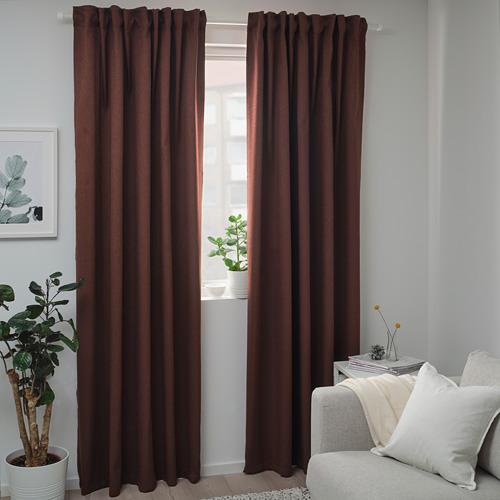 BLÅHUVA cortinas opacas, 1 par