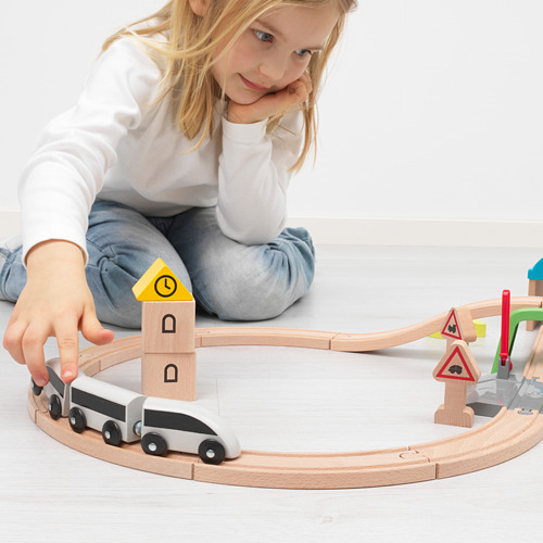 LILLABO juego de tren+vía, 45 piezas