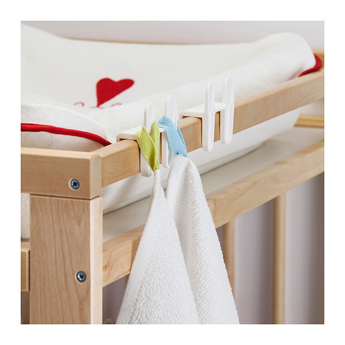 ÖNSKLIG racks for changing table, set of 4