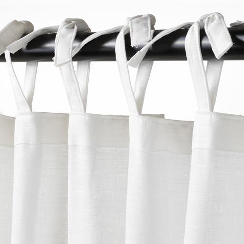 SÅNGLÄRKA curtains with tie-backs, 1 pair