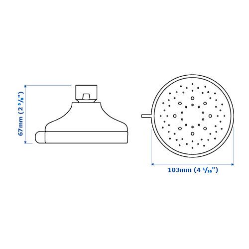 VOXNAN cabezal ducha 5 chorros