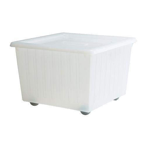 VESSLA box with casters and lid