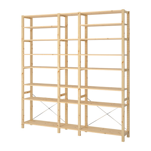 IVAR 3 section shelving unit