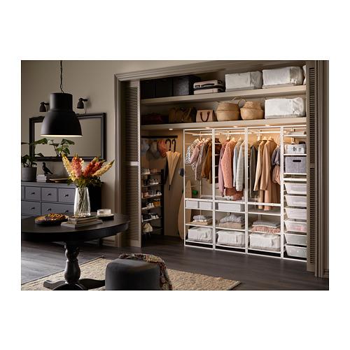 JONAXEL estructura+canastas de rejilla estrecha+riel ropa+estantes