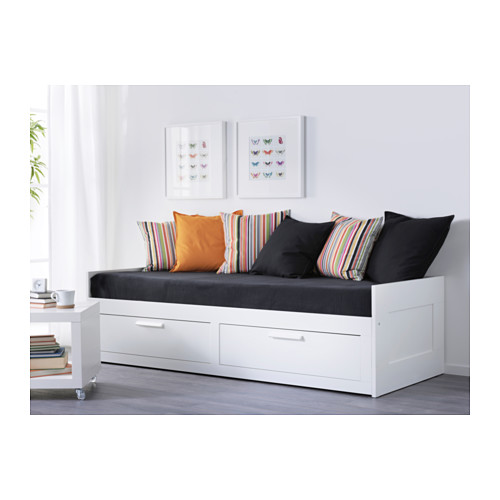 BRIMNES daybed with 2 drawers/2 mattresses
