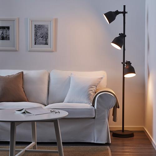 HEKTAR lámpara de piso con 3 focos