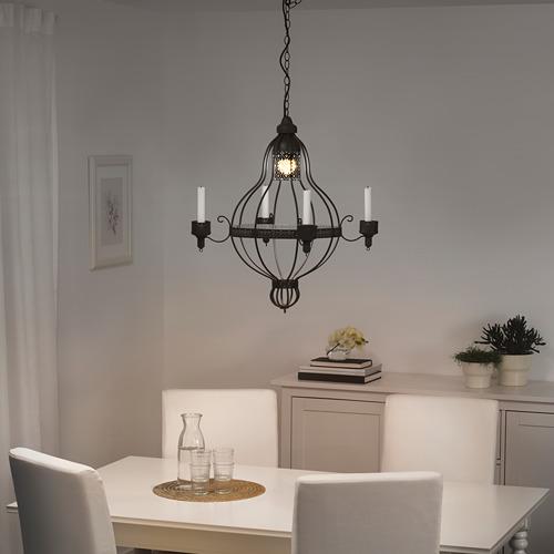 ÄPPELVIKEN chandelier, 4-arm