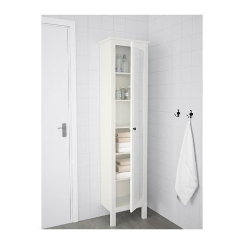 HEMNES armario alto con puerta de espejo