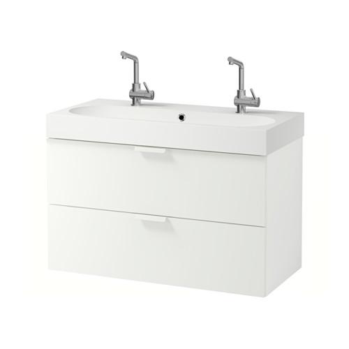 BRÅVIKEN/GODMORGON armario para lavamanos+2 gavetas