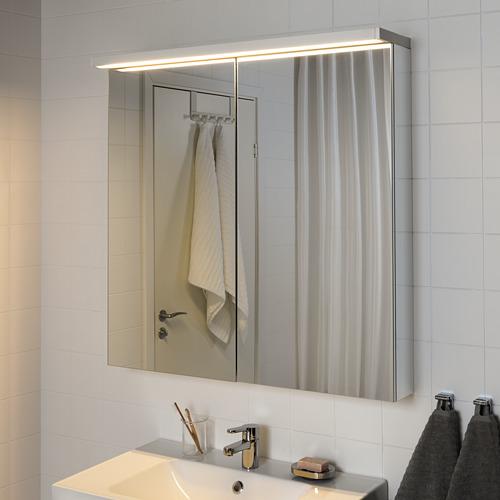 """GODMORGON iluminación led integrada y estantería de pared, 600 lm, 5""""x1""""x"""