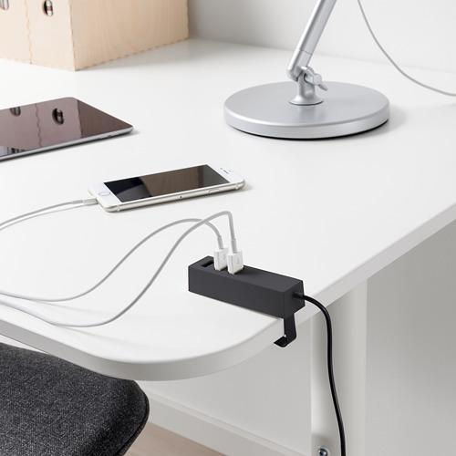 """LÖRBY cargador USB con pinza y cable de  6 ' 3 """""""