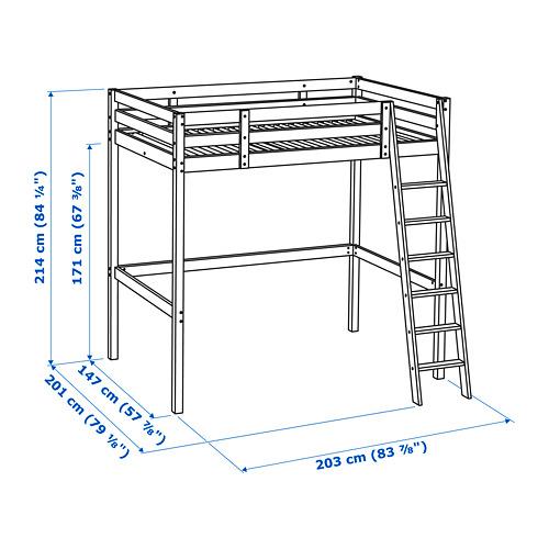 STORÅ estructura de cama alta, full