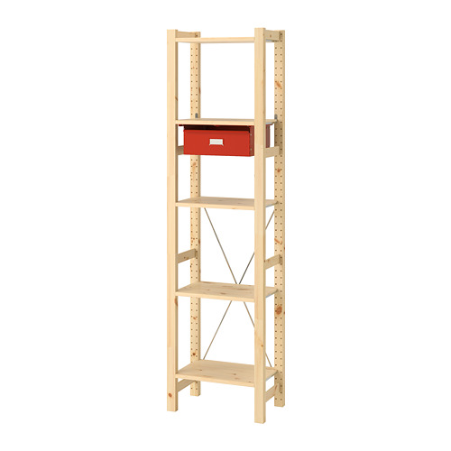 IVAR shelving unit with drawers