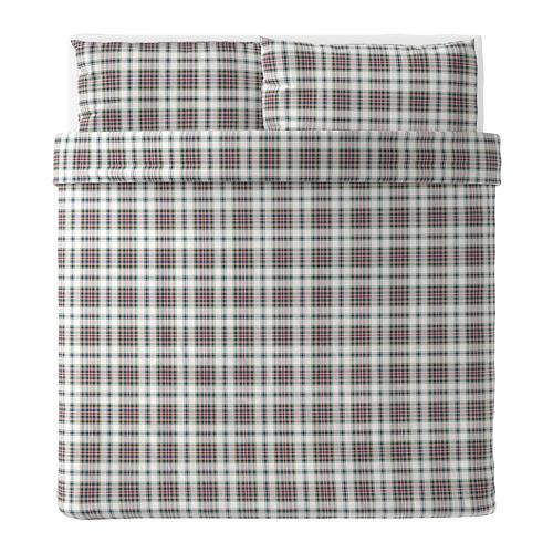 MOSSRUTA duvet cover and pillowcase(s) 86 threads