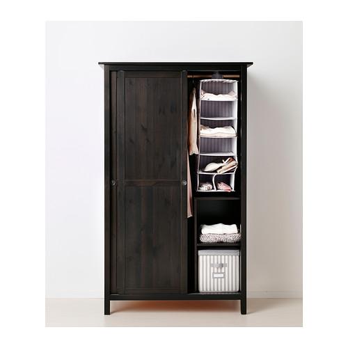 HEMNES wardrobe with 2 sliding doors