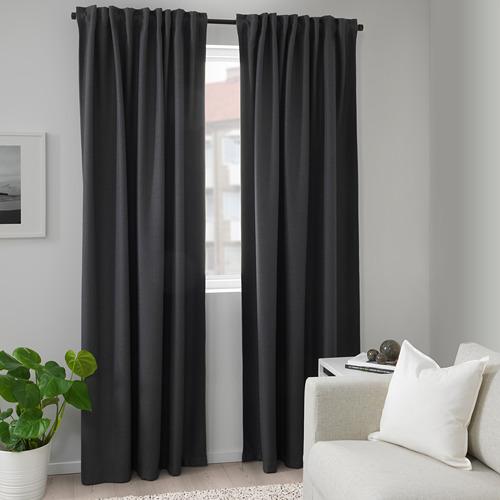 ANNAKAJSA cortinas opacas, 1 par