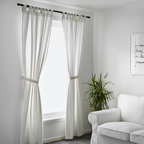 LENDA cortinas con tiras, 1 par