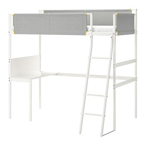 VITVAL estructura de cama alta+tablero, twin