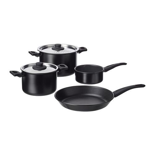 HEMLAGAD 6-piece cookware set