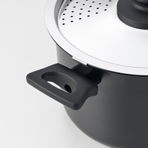 HEMLAGAD pot with lid
