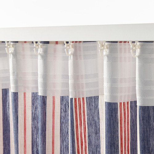 BERGSKRABBA curtains, 1 pair