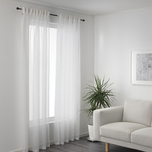 GJERTRUD cortinas transparentes, 1 par