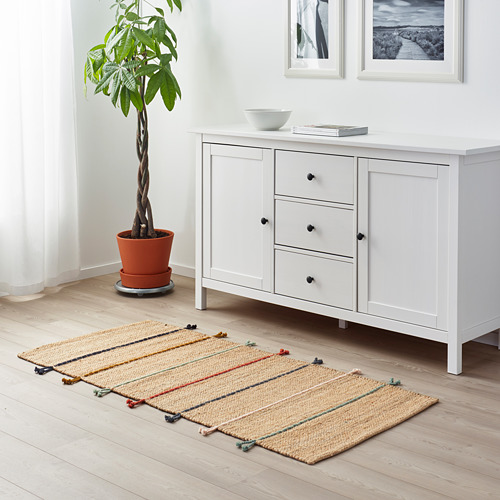 RAKLEV alfombra, lisa