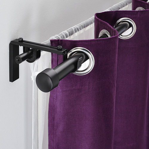 HUGAD/RÄCKA combinación barra cortina doble