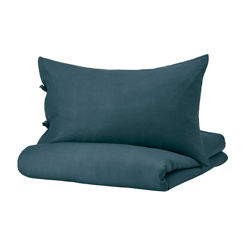 PUDERVIVA funda nórdica+funda(s) de almohada, 104 hilos, full queen