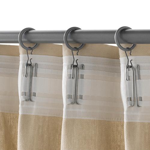SYRLIG anilla para cortina+clip/gancho
