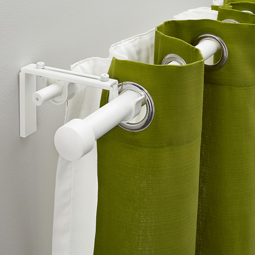 HUGAD/RÄCKA double curtain rod combination