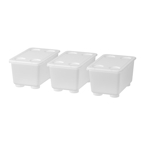 GLIS box with lid, sed of 3