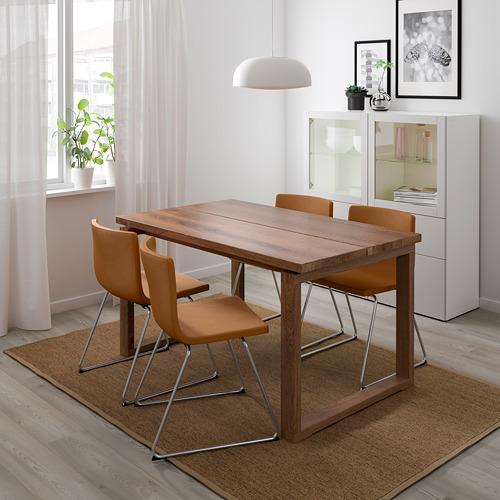 """BERNHARD/MÖRBYLÅNGA mesa con 4 sillas, longitud de la mesa 55 1/8"""""""