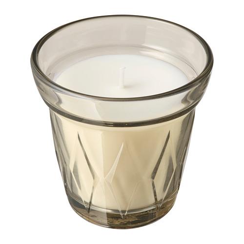 VÄLDOFT vela perfumada en vidrio