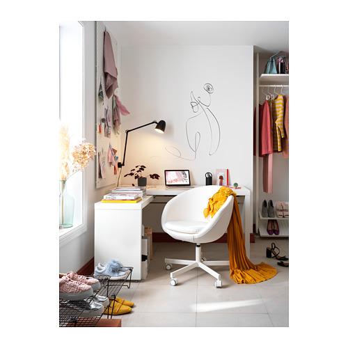 MALM escritorio con panel extraíble