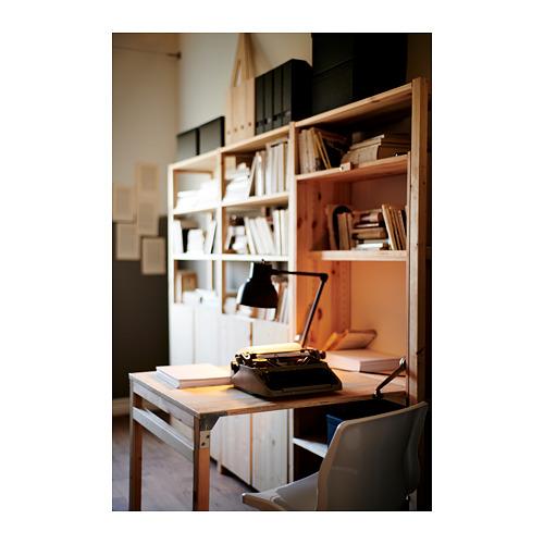 """IVAR Estantería, 3 secciones con estantes, armarios y mesa plegable, 102""""x11 3/4""""y41""""x70 1/4"""""""