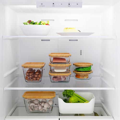VÄLGRUNDAD nevera+congelador inferior