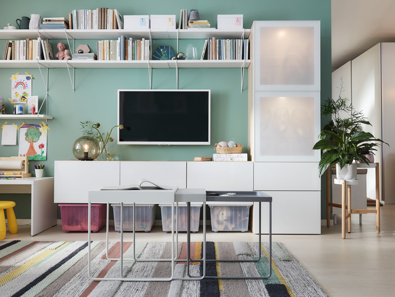 Organizing entertainment and rest in your living room
